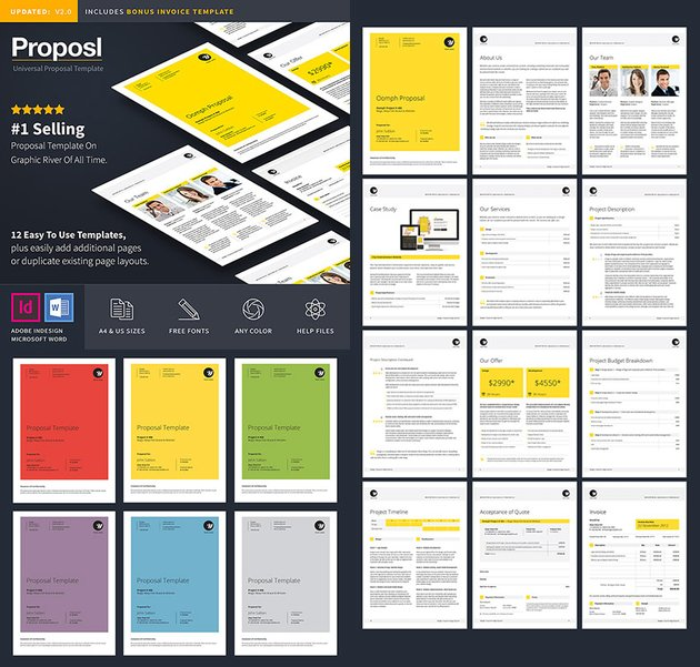 Professional Business Proposal Template Design