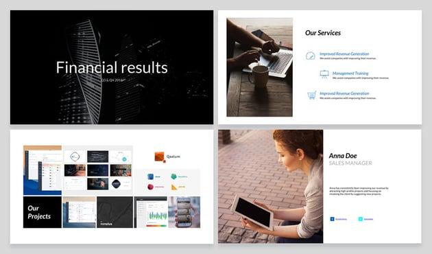 Finished slide designs