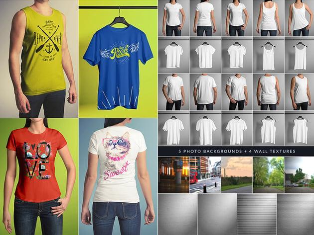 PSD T-Shirt Mock-Up Reatlistic Branding Designs