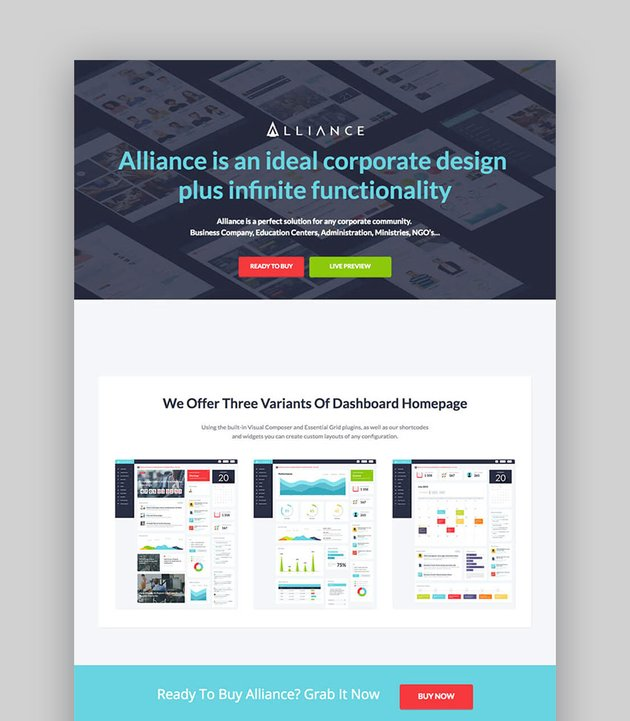 Alliance Intranet WordPress Business Directory Website Template
