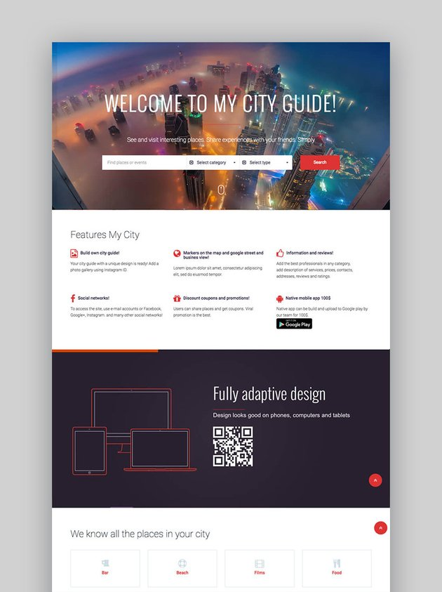 MyCity WordPress Directory Events Business Website Template