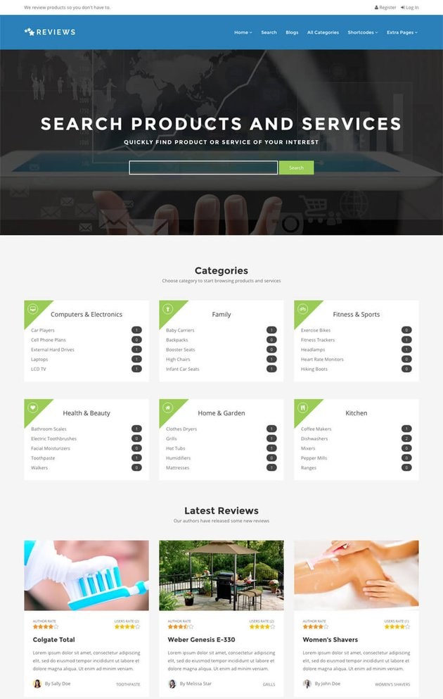 Reviews The Review WordPress Listing Theme