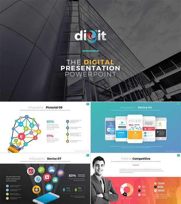 Digit One-Stop Business PPT Presentation Template