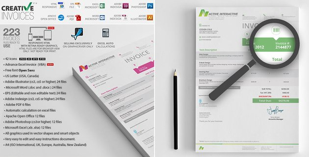 Simple Creative Invoice Template Word Docs and More