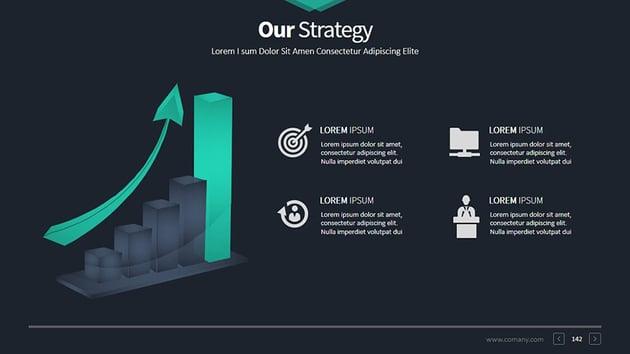Business Mix PowerPoint presentation slide graphic