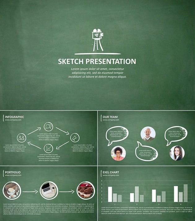 Sketch 20 PPT Presentation for School Design