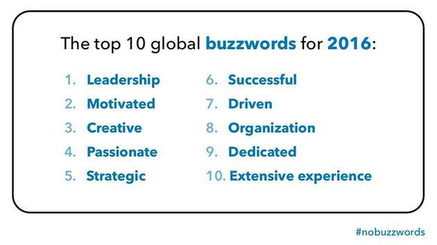 Top buzzwords to remove from your resume