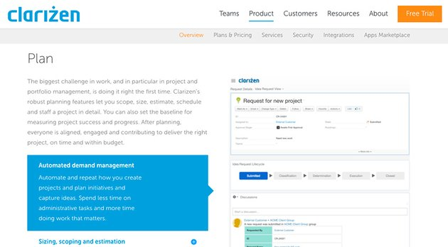 Clarizen - Robust Online Project Management Tool