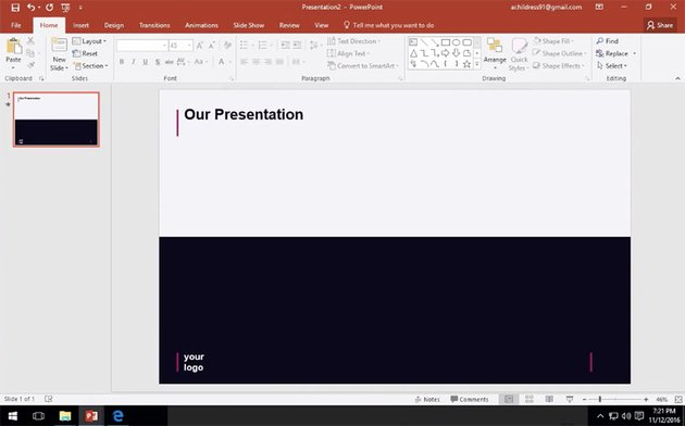 Slide from Simplicity presentation template
