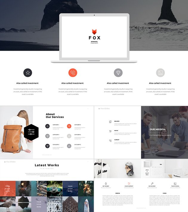 Fox Awesome PowerPoint Template With Cool Designs