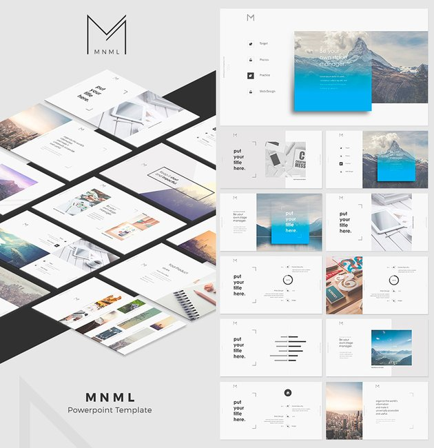 MNML Cool PPT Template With Creative Designs