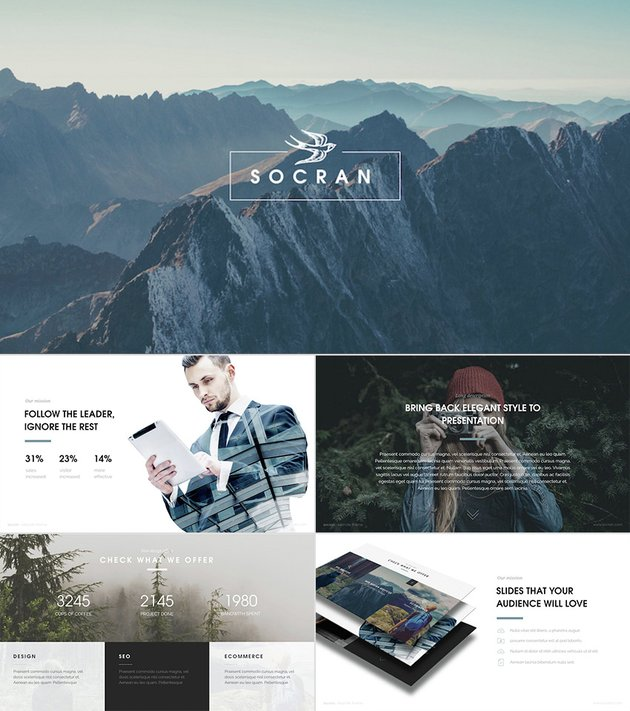 Socran Sophisticated Cool PowerPoint Template Designs