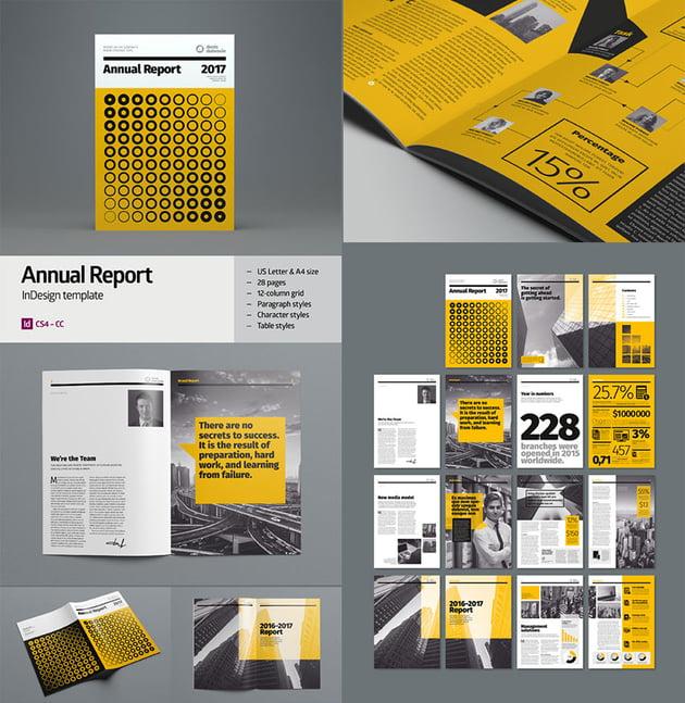 Creative Corporate Annual Report InDesign Template Design