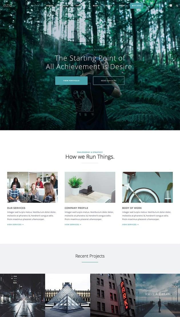 Ezio Creative WordPress Theme Best for Digital Agencies