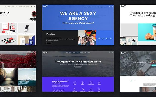 Fevr Creative agency WordPress theme design