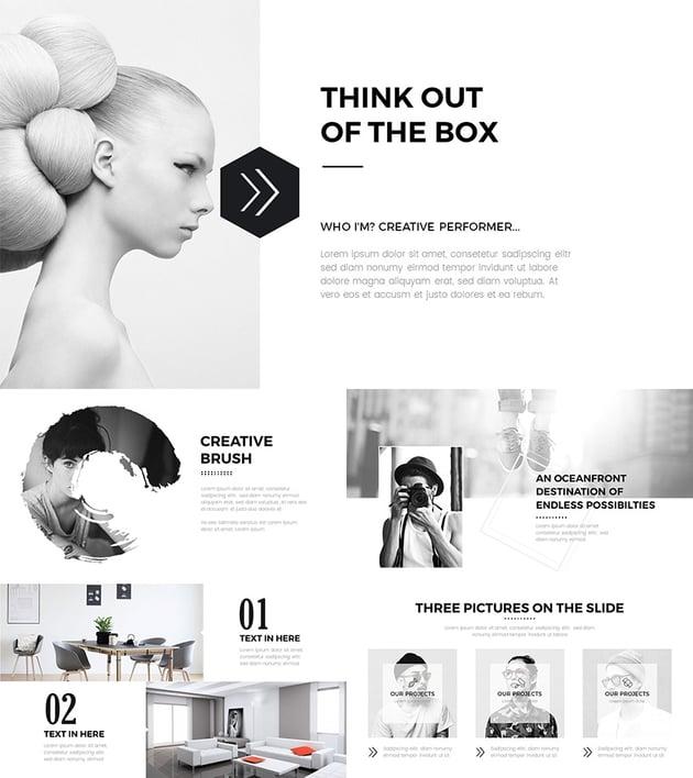 Clean Creative PPT Template Design 2016