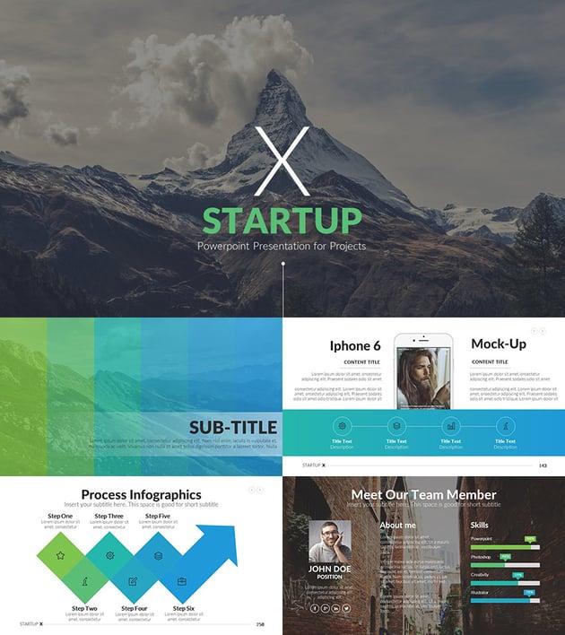 Startup X 2016 Pitch Deck PPT Template Design