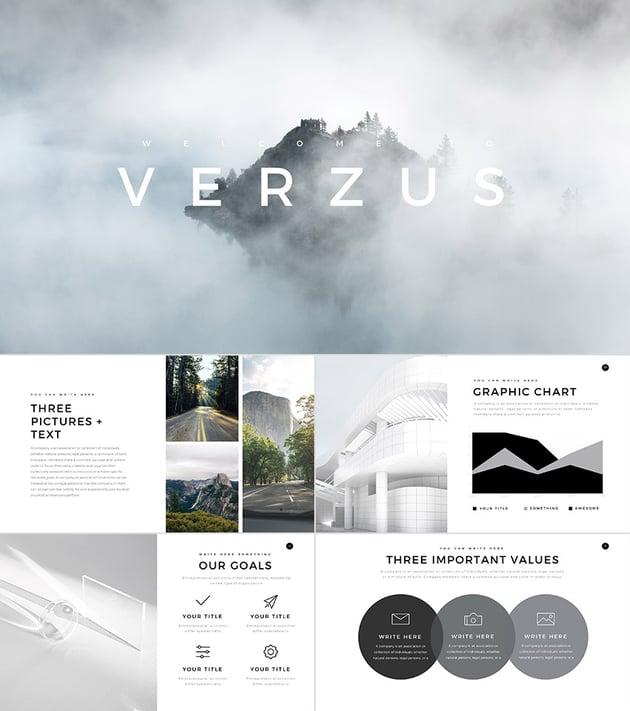 Verzus 2016 Minimal PowerPoint Template Design