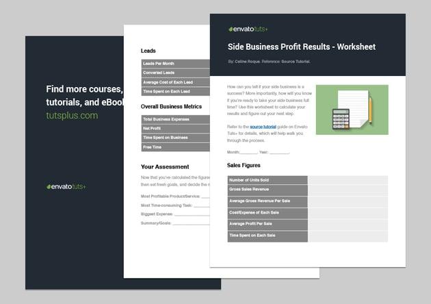 Side Business Profit Results - Worksheet