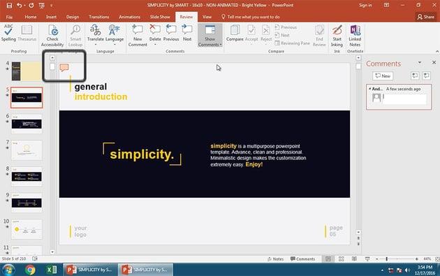 PowerPoint Comment Bubble