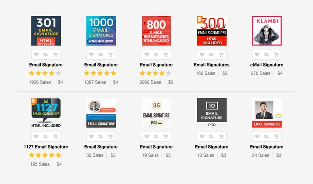 Best Professional Email Signature Templates on GraphicRiver