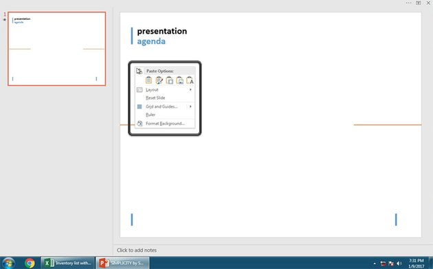 Numerous ways to paste Excel data to PowerPoint