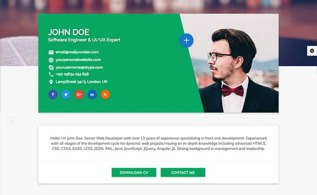Flatrica HTML resume website template
