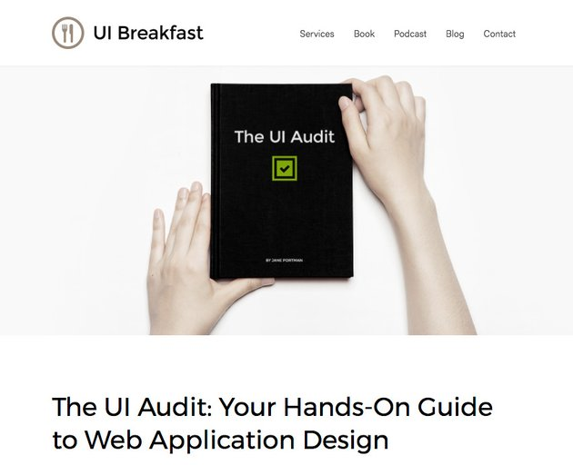 UI Audit Book - Example of Service as a Product