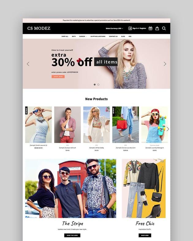 Modez - Minimal Fashion BigCommerce Site 2017 Theme