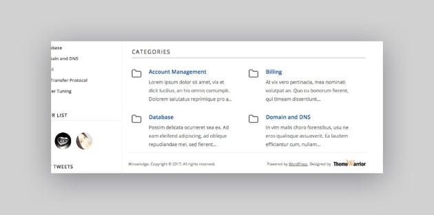 iKnowledge - Tema de WordPress para base de conocimiento con categorías