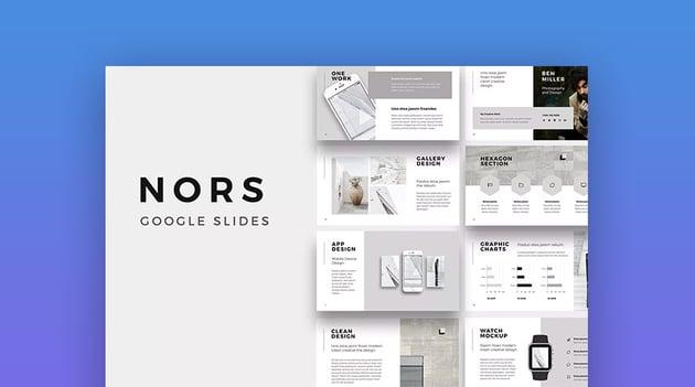 Nors Cool Modern Google Slides Theme Design