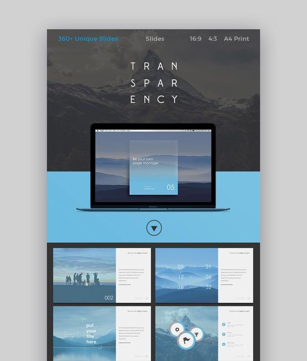 Transparency Slides Cooles Theme für Google Drive Slides