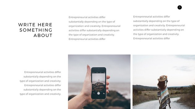 Verzus minimal Google Slides presentation layout