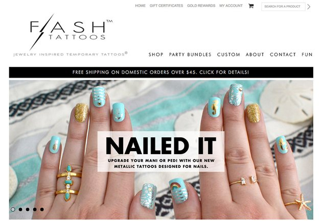 Flash Tattoos Choose a product to sell online that is starting to trend