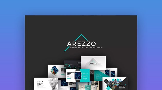 Arezzo PowerPoint PPT Presentation Theme Design