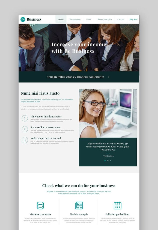 Be Theme popular professional WordPress theme