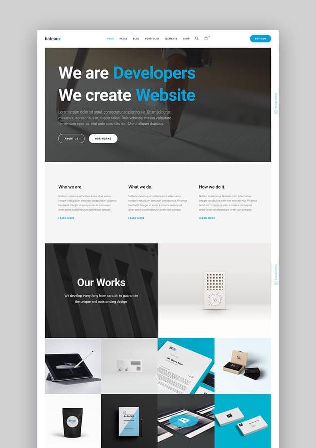 Bateaux clean premium WordPress theme