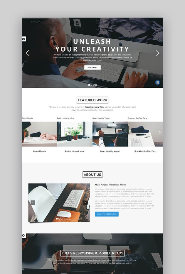 Brooklyn Popular Multipurpose WordPress theme