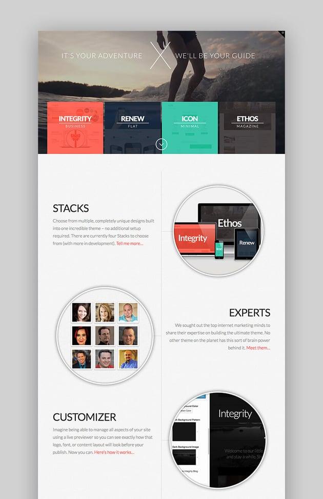 X Theme Premium WordPress theme design