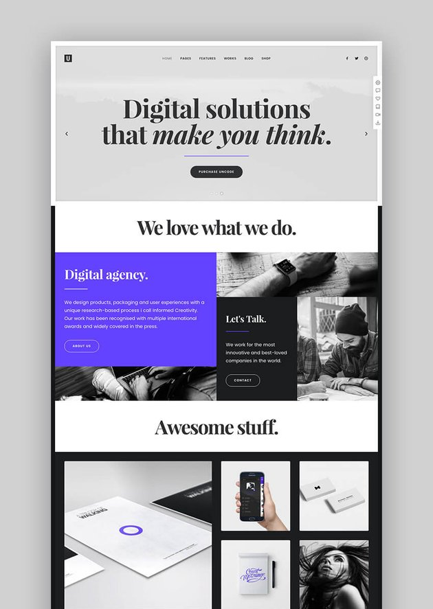 Uncode popular multipurpose WordPress theme