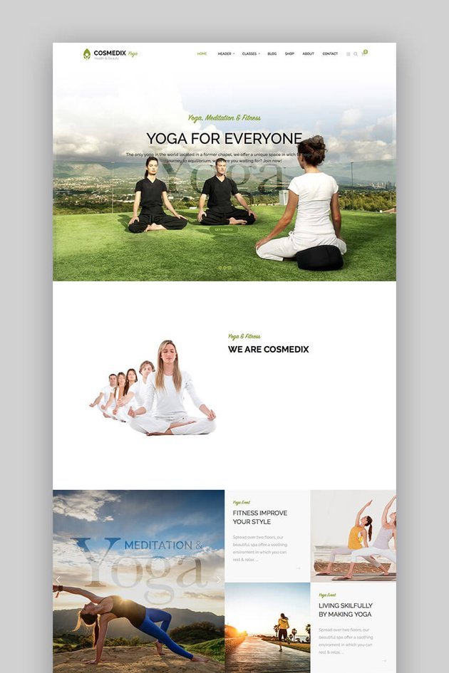 Cosmedix flat health WordPress theme