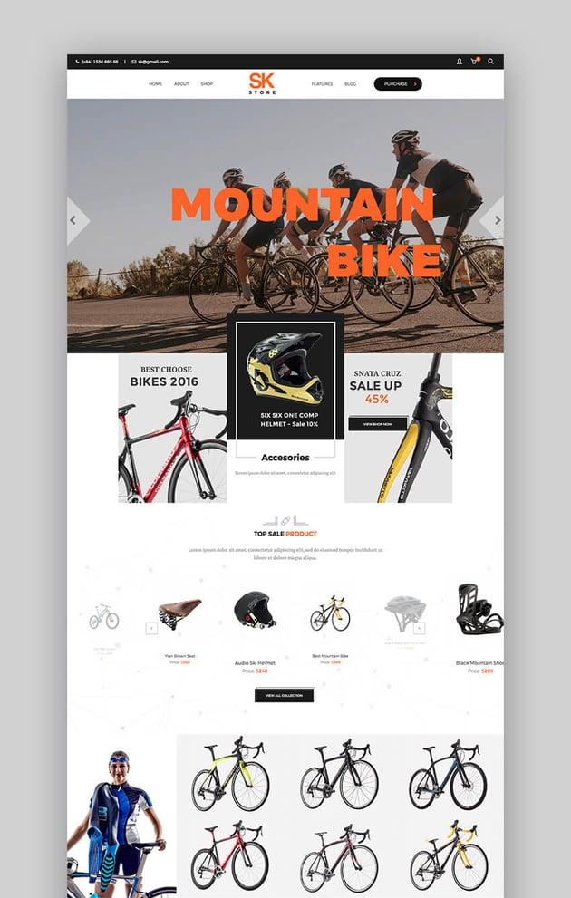 SKStore flat WordPress theme modern design