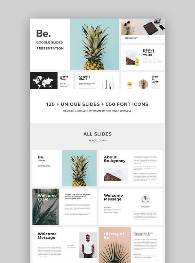 Be New Google Slides Presentation Template Design