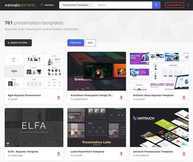 Best Presentation Templates on Envato Elements