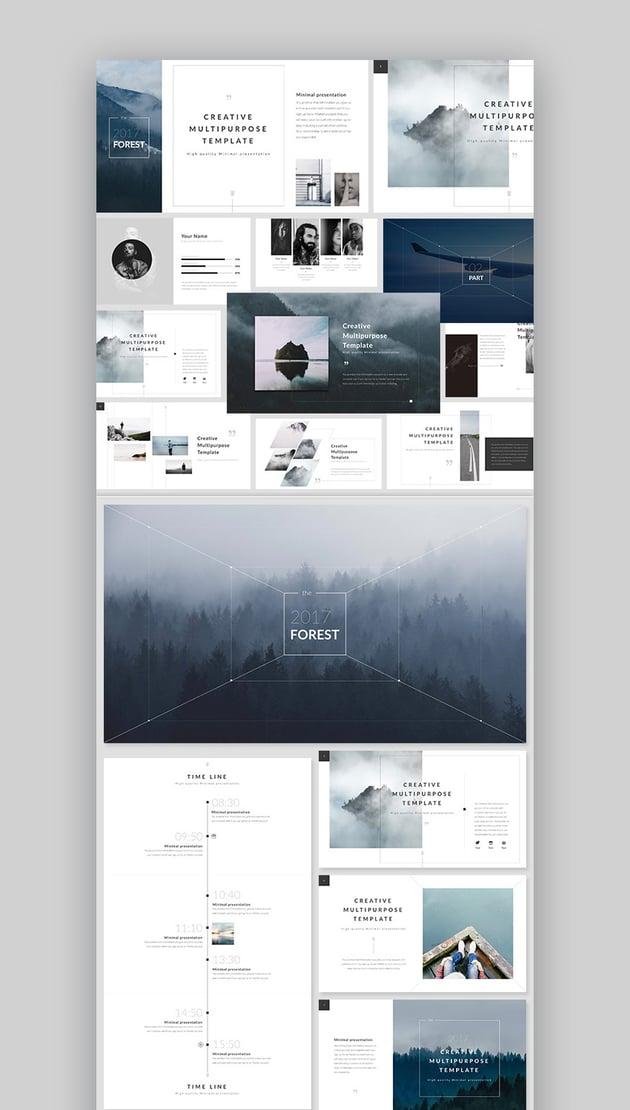 Forest Fresh New Keynote Presentation Template Design