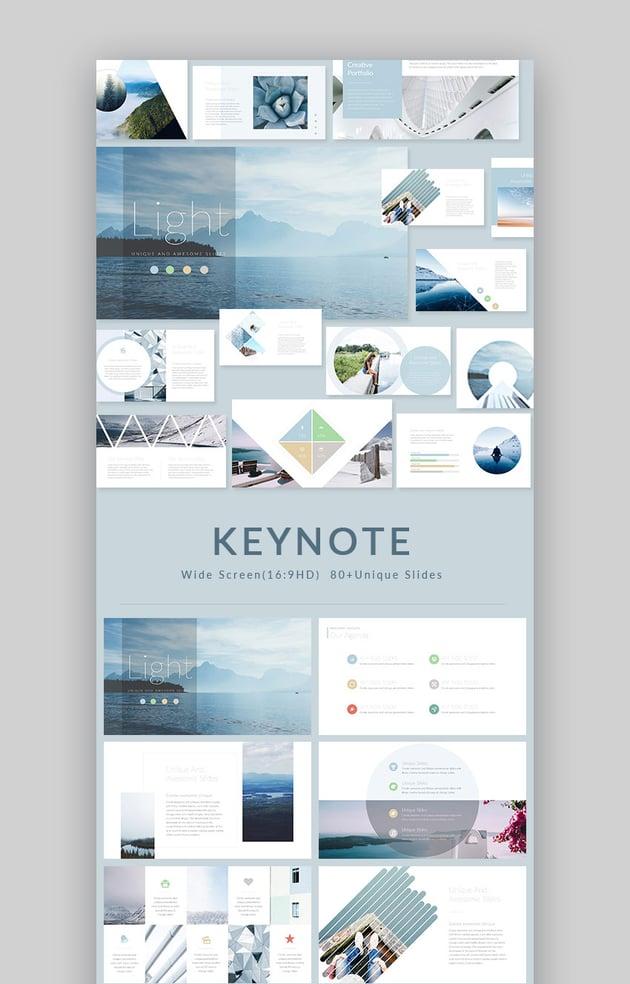 Light Modern Keynote Presentation Template Design