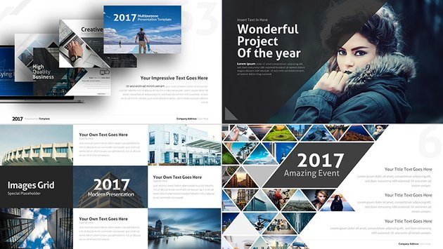 Stylish new PowerPoint business presentation template