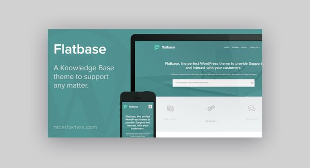 Flatbase WordPress wiki theme