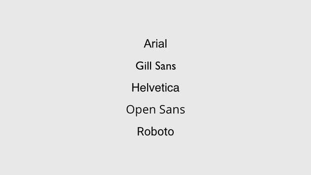 Use basic fonts in your presentation