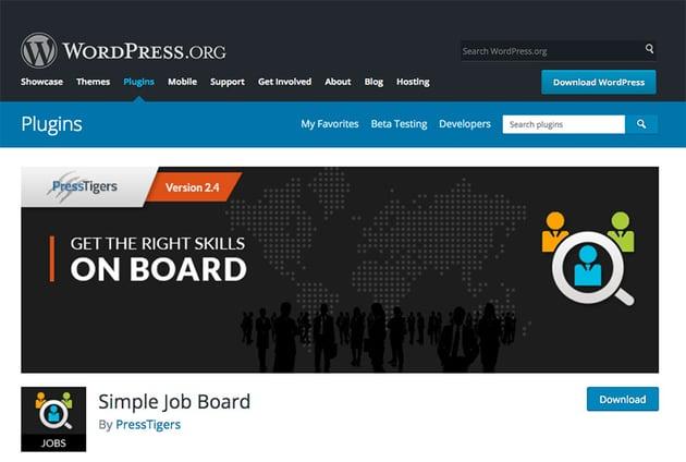 Simple Job Board WordPress plugin